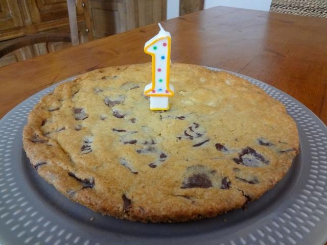 cookie géant d'anniversaire