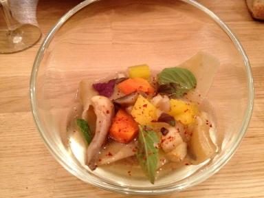 Pot au feu de légumes ravioles