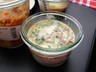 lasagne de polenta champignons et épinard