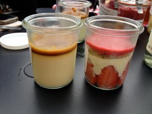 crème caramel au beurre salé et fraisier