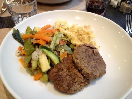 kefta et légumes