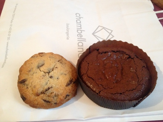 cookie et fondant chocolat