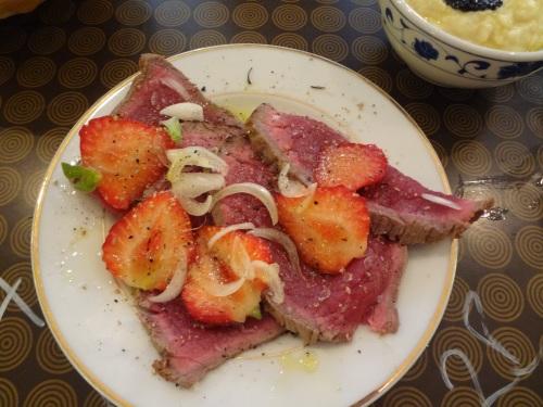 bœuf fraises