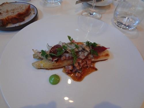 asperges blanches pied de cochon